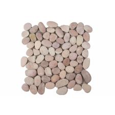 Mozaik Garth, burkolat - folyami kavics, bézs csempe
