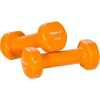OEM MOVIT súlyzók vinyl bevonattal 2 x 1,5 kg, narancssárga