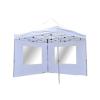 Összecsukható kerti parti sátor Profi – fehér, 3 x 3 m + 2 oldalfallal