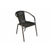 OEM Kerti rattan szék Bistro - fekete, barna vázzal