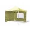 Összecsukható kerti parti sátor Profi – pezsgő szín, 3 x 3 m + 4 oldalfallal