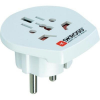Single Travel Adapter Schuko - Europe hálózati adapter, fehér