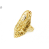 Bicolor hosszúkás áttört arany gyűrű