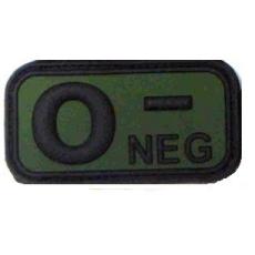 Vércsoport PVC felvarró zöld-fekete