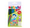 Nebulo Színes ceruza készlet, háromszögletű,  jumbo, NEBULÓ, 12 különböző szín színes ceruza