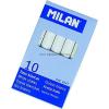 MILAN táblakréta 10 DB-OS FEHÉR HENGERES 1037