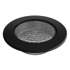 Szellőzőrács Fekete Kerek 120