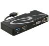 DELOCK Adapter USB 3.0 > HDMI / VGA + Gigabit LAN + USB 3.0 mobiltelefon kellék