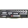 PROXXON 23020 Racsnis Dugókulcs készlet 27 részes 6-32mm ( 1/4