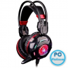 A4-Tech Bloody G300 Headset Black/Red Headset,2.0,3.5mm,Kábel:2,2m,32Ohm,20Hz-20kHz,Mikrofon,Black/Red