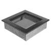 Kratki Ezüst - Fekete Szellőzőrács Standard 17x17