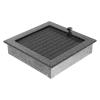 Kratki Fekete Ezüst Szellőzőrács Standard 22x22 Redőnnyel
