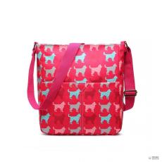 LC1645NDG - Miss Lulu London kicsimattte Oilcloth szögletes táska Dog Plum