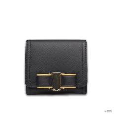 Lip E1693 - Miss Lulu London kicsi Textupiros Bow Clip pénztárca fekete