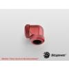 Bitspower Multi-Link Adapter Deep Blood Red Enhance 90° G1/4 12mm AD - vérvörös /BP-DBRE90DML/