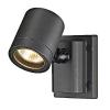 Schrack Technik NEW MYRA WALL lámpatest, antracit, GU10, max. 50W, IP55