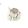 Négyzetes gyöngyházas női ezüst gyűrű