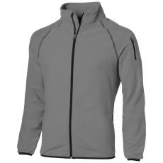 Slazenger Drop fleece pulóver férfi, szürke (SLAZENGER Drop fleece, elején végig cipzáros, könnyű,)