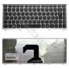 Lenovo 25208854 gyári új, ezüst-fekete magyar laptop billentyűzet