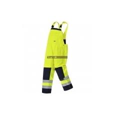 Portwest TX72 Girona Hi-Vis jól láthatósági mellesnadrág (sárga/navy)
