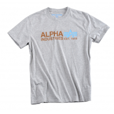 Alpha Industries Basic T Print 17 - szürke