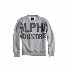 Alpha Industries All Over Sweater - szürke