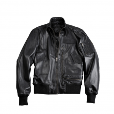 Alpha Industries Engine Leather - fekete
