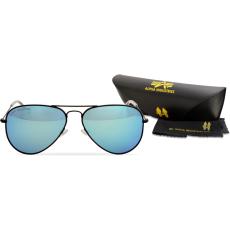 Alpha Industries Top Gun M napszemüveg - fekete/kék