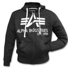 Alpha Industries Big A Classic Zip Hoody - fekete pulóver