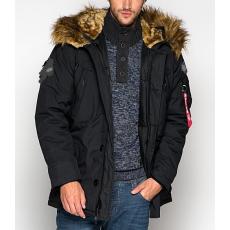Alpha Industries Polar Jacket felvarró nélkül - fekete