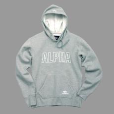 Alpha Industries Track Hoody - szürke/fehér