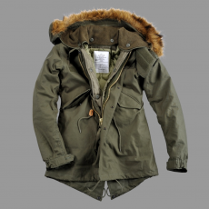 Alpha Industries Vintage Fishtail Női - olive