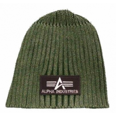 Alpha Industries Heavy Rib Beanie - olive