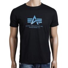 Alpha Industries Basic T - fekete/kék póló