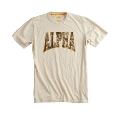 Alpha Industries Photo Print T - tört fehér