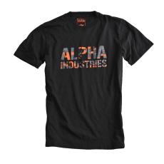 Alpha Industries Camo Print T - fekete
