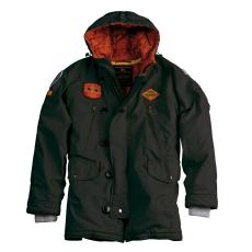 Alpha Industries Airborne Hood Parka - greyblack kabát