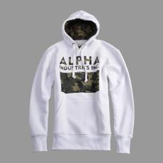 Alpha Industries Camouflage Print Hoody - fehér