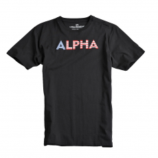 Alpha Industries Basic T Print 24 - fekete póló