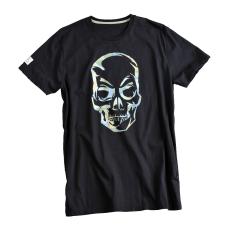 Alpha Industries Camo Skull T - fekete