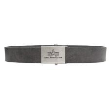 Alpha Industries Alpha Leather Belt 2 - washed black bőröv