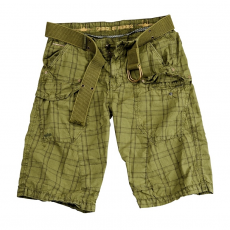 Alpha Industries Checked Short - olive