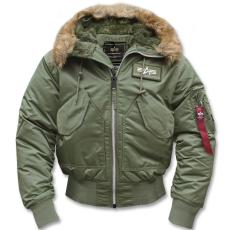 Alpha Industries 45 P Hooded - sage zöld színű kabát