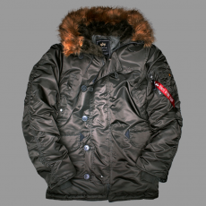 Alpha Industries N3B - replica szürke