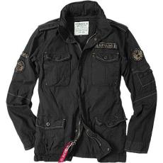 Alpha Industries Arlington hátsó felirat nélkül - fekete kabát