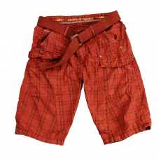 Alpha Industries Checked Short - piros