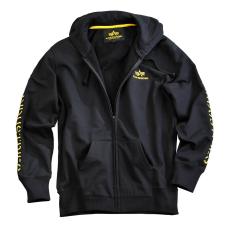 Alpha Industries Track II Zip Hoody - fekete/sárga