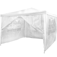 Kerti party sátor 4 oldalfallal - fehér, 3 x 3 m kerti bútor