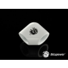 Bitspower Deluxe White 90-Degree With Dual Inner G1/4 Extender /BP-DW90DIG14/