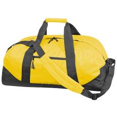600 D gyöngyvászon sporttáska, sárga (Extra minőségű gyöngyvászon sporttáska, oldal zsebbel, tágas)